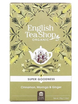 English Tea Shop fahéj, moringa és gyömbér bio tea 40g (20filter)