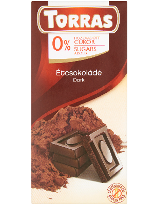 Torras Étcsokoládé hozzáadott cukor nélkül 75g