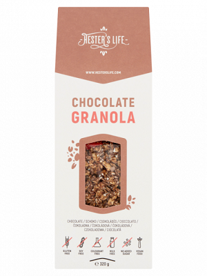 Hesters life csokis granola 320g