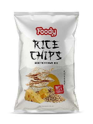 FOODY RICE CHIPS sajtos ízesítéssel (55 g)