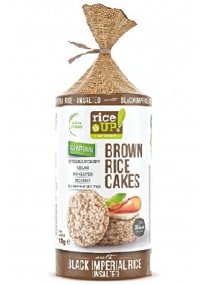 Rice Up Puffasztott teljes kiőrlésű barna rizs szelet feketerizzsel 120g