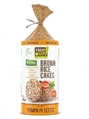 Rice Up Puffasztott teljes kiőrlésű barna rizs szelet tökmaggal 120g