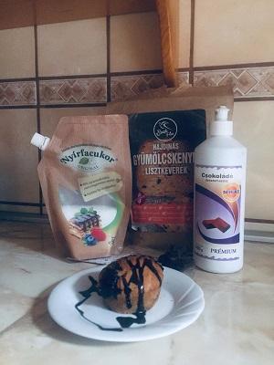 Muffin-gyumolcskenyer-lisztkeverekbol